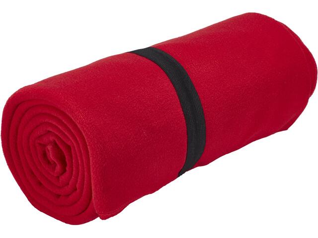 CAMPZ Fleecedecke red